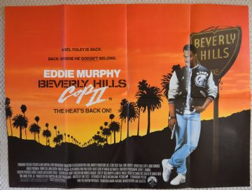 Beverly Hills Cop 2 Film Poster UK Quad
